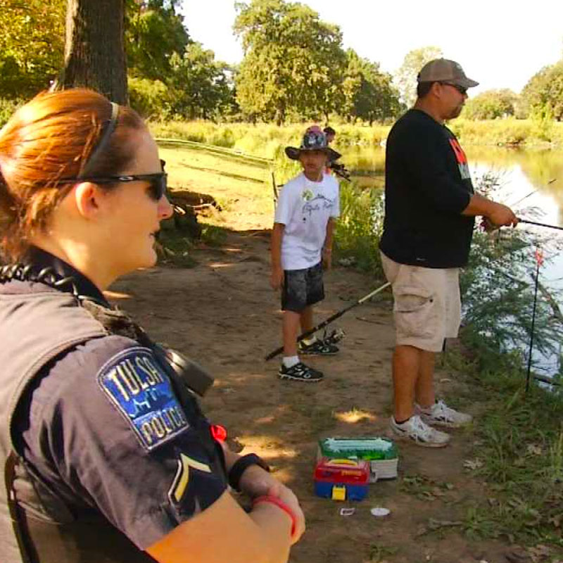 TPD Goes Fishing with Youth