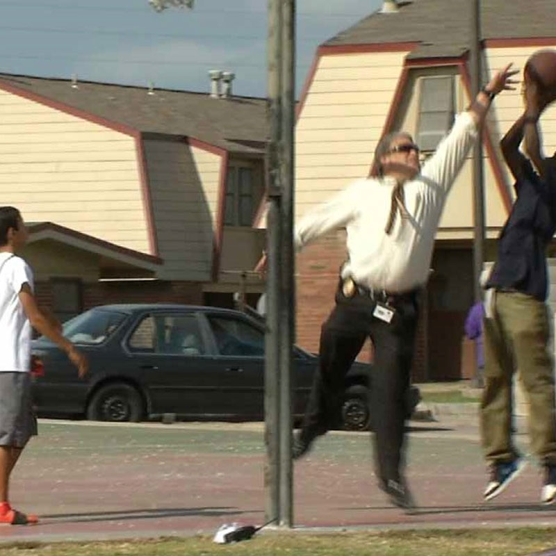 TPD Detective Connects with Kids on the Court