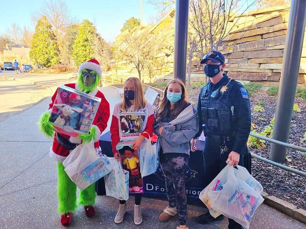 Toy Drive with the Grinch during Random Acts of Kindness