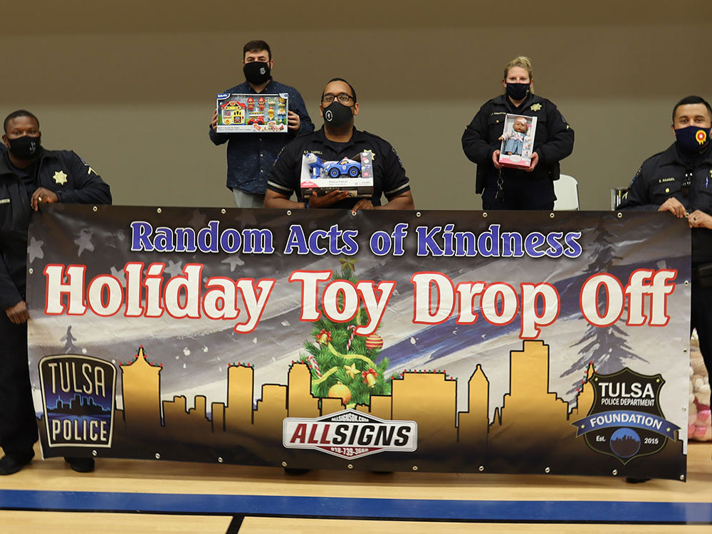 Random Acts of Kindness Toy Drive Banner